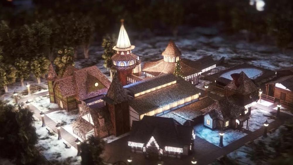 La ricostruzione digitale del Villaggio di Babbo Natale a Torino