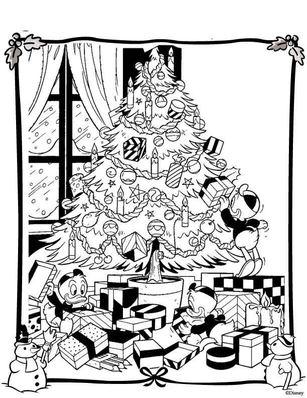 Disegni Da Colorare Gratis Di Natale.Disegni Di Natale Da Colorare Per Bambini