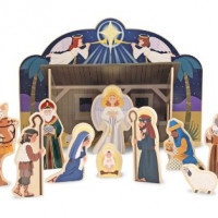 Presepe 3D in carta