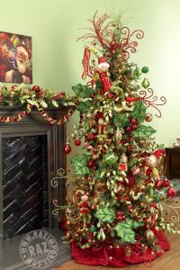 Decorazione albero di Natale vischio ed elfo