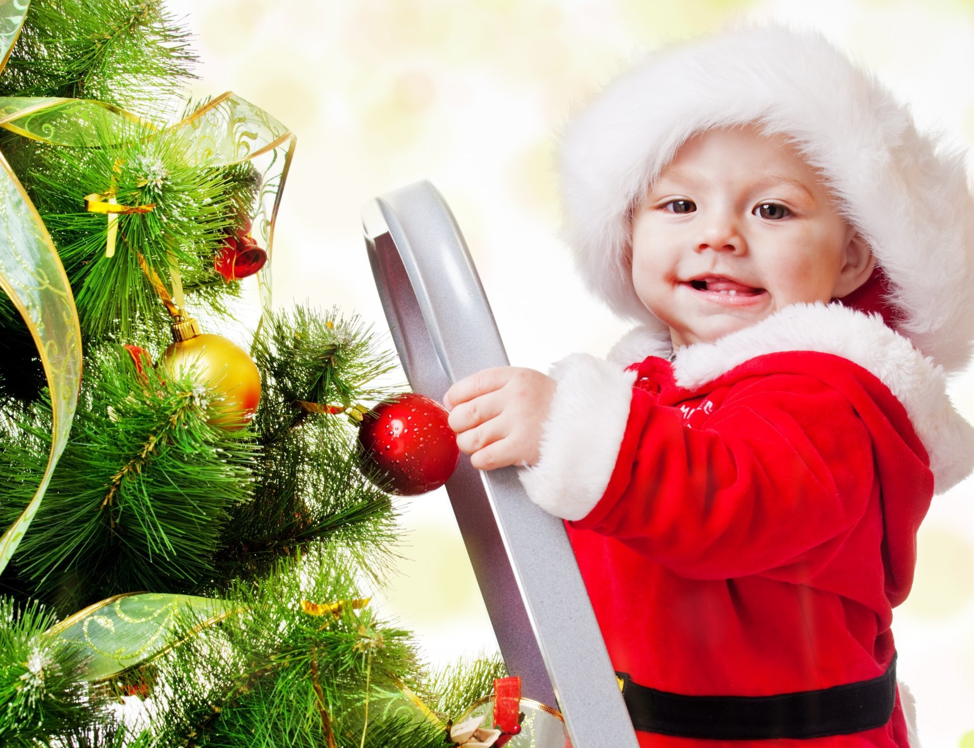 new-year-merry-christmas-adorable-funny-beautiful-kid-children-ladder-christmas-tree-new-year-merry-christmas-adorable-funny-beautiful-guy-children-christmas-tree-stairs