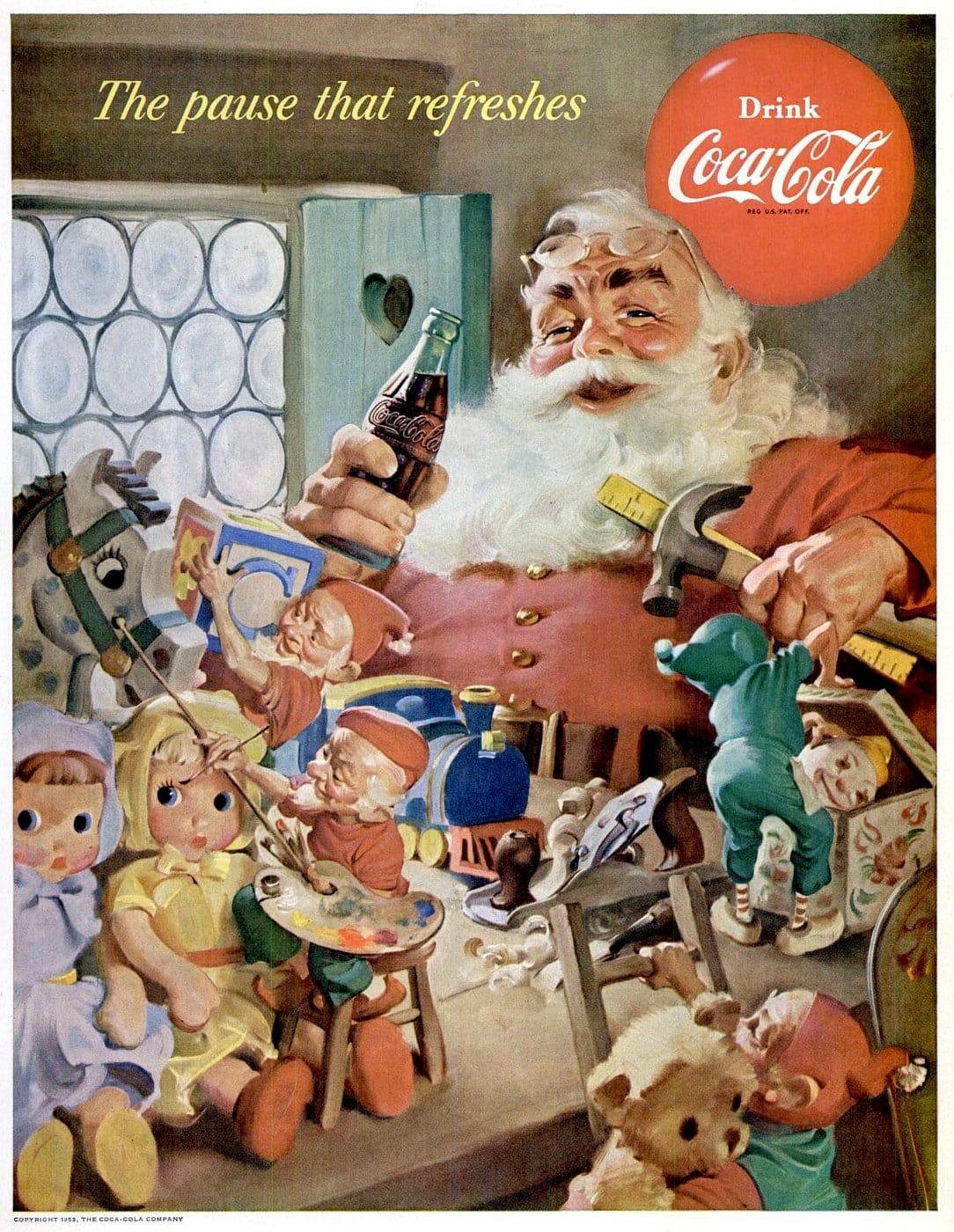 Coca Cola Babbo Natale.La Storia Della Coca Cola E Di Babbo Natale Aspettando Natale